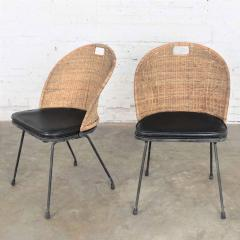 Maurizio Tempestini MCM iron wicker pair of neva rust chairs by maurizio tempestini for salterini - 1681958