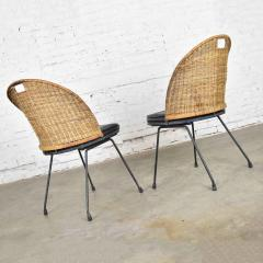 Maurizio Tempestini MCM iron wicker pair of neva rust chairs by maurizio tempestini for salterini - 1681988