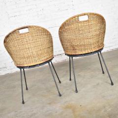 Maurizio Tempestini MCM iron wicker pair of neva rust chairs by maurizio tempestini for salterini - 1681989