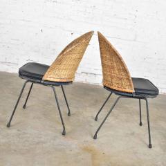 Maurizio Tempestini MCM iron wicker pair of neva rust chairs by maurizio tempestini for salterini - 1681990