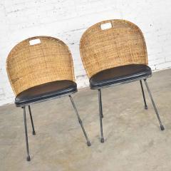 Maurizio Tempestini MCM iron wicker pair of neva rust chairs by maurizio tempestini for salterini - 1681992