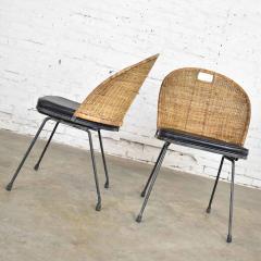 Maurizio Tempestini MCM iron wicker pair of neva rust chairs by maurizio tempestini for salterini - 1681993
