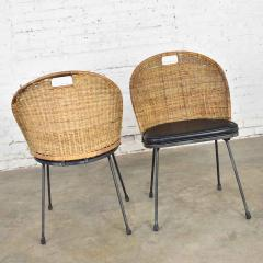 Maurizio Tempestini MCM iron wicker pair of neva rust chairs by maurizio tempestini for salterini - 1682004
