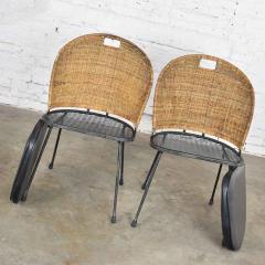 Maurizio Tempestini MCM iron wicker pair of neva rust chairs by maurizio tempestini for salterini - 1682009