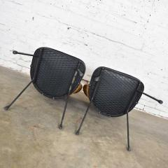 Maurizio Tempestini MCM iron wicker pair of neva rust chairs by maurizio tempestini for salterini - 1682011
