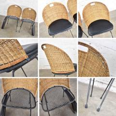 Maurizio Tempestini MCM iron wicker pair of neva rust chairs by maurizio tempestini for salterini - 1682012