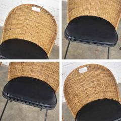 Maurizio Tempestini MCM iron wicker pair of neva rust chairs by maurizio tempestini for salterini - 1682013