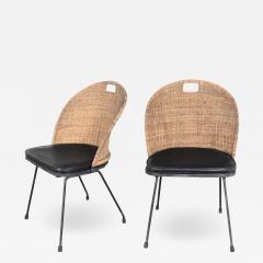 Maurizio Tempestini MCM iron wicker pair of neva rust chairs by maurizio tempestini for salterini - 1683409