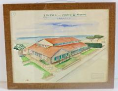 Maurizio Tempestini Watercolors on Paper Cinema Al Forte Dei Marmi Maurizio Tempestini 1939 - 1706790