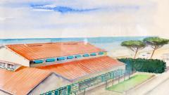Maurizio Tempestini Watercolors on Paper Cinema Al Forte Dei Marmi Maurizio Tempestini 1939 - 1706792