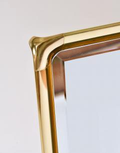 Mauro Lipparini 1970s brass framed wall mirror by Mauro Lipparini - 743421