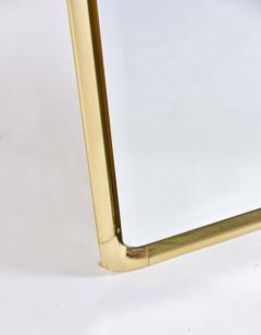 Mauro Lipparini 1970s brass framed wall mirror by Mauro Lipparini - 743422