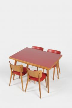Max Bill Max Bill Folding dining table and 4 chairs Horgen Glarus 1957 - 1782877