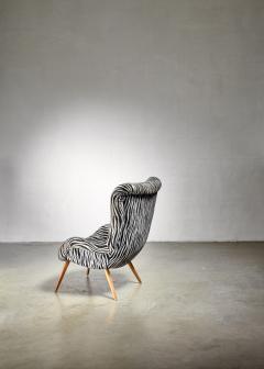 Max Ernst Ernst Jahn 1950s wingback lounge chair - 1143208
