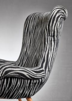 Max Ernst Ernst Jahn 1950s wingback lounge chair - 1143209