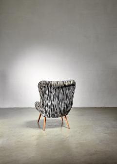 Max Ernst Ernst Jahn 1950s wingback lounge chair - 1143210