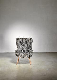 Max Ernst Ernst Jahn 1950s wingback lounge chair - 1143211