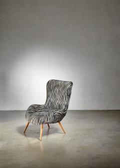 Max Ernst Ernst Jahn 1950s wingback lounge chair - 1143212