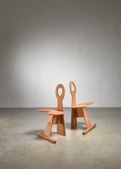 Max Gottschalk Max Gottschalk pair of maple and plywood chairs - 1584386