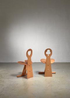 Max Gottschalk Max Gottschalk pair of maple and plywood chairs - 1584387
