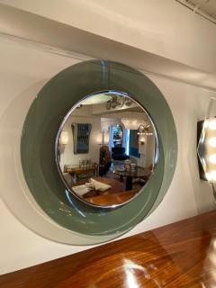 Max Ingrand 1669 Model Circular Glass Mirror by Max Ingrand for Fontana Arte Italy 1960 - 1401538