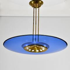 Max Ingrand Blue glass chandelier - 2106262