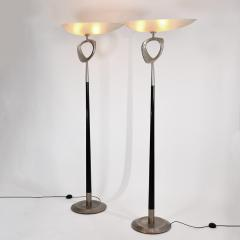 Max Ingrand Extremely rare pair of sculptural floor lamps - 1619862