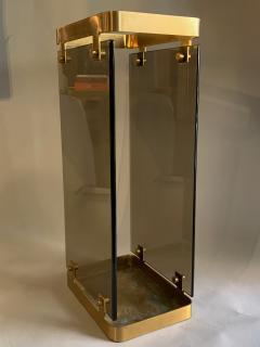 Max Ingrand Glass Brass Umbrella Stand By Max Ingrand For Fontana Arte 1960s - 2080610