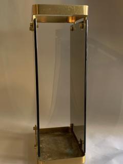 Max Ingrand Glass Brass Umbrella Stand By Max Ingrand For Fontana Arte 1960s - 2080611