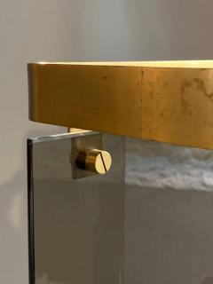 Max Ingrand Glass Brass Umbrella Stand By Max Ingrand For Fontana Arte 1960s - 2080614