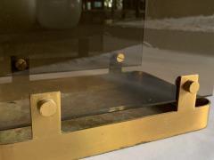 Max Ingrand Glass Brass Umbrella Stand By Max Ingrand For Fontana Arte 1960s - 2080615