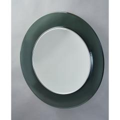 Max Ingrand Ma Ingrand Round Colored Glass Mirror 1960s - 1307485