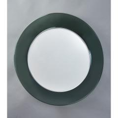 Max Ingrand Ma Ingrand Round Colored Glass Mirror 1960s - 1307488