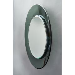 Max Ingrand Ma Ingrand Round Colored Glass Mirror 1960s - 1307494