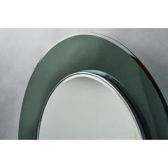 Max Ingrand Ma Ingrand Round Colored Glass Mirror 1960s - 1307495
