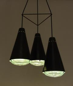 Max Ingrand Max Ingrand 2126 Model 3 Light Ceiling Pendant c 1961 - 1089327