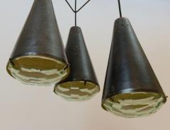Max Ingrand Max Ingrand 2126 Model 3 Light Ceiling Pendant c 1961 - 1089328