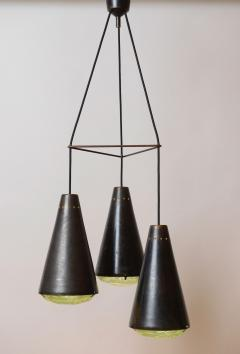 Max Ingrand Max Ingrand 2126 Model 3 Light Ceiling Pendant c 1961 - 1089329