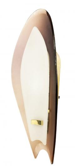 Max Ingrand Pair of Aubergine Glass Sconces by Max Ingrand for Fontana Arte - 1505553