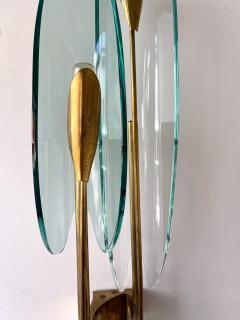 Max Ingrand Pair of Dahlia Sconces by Max Ingrand for Fontana Arte Italy 1950s - 2073911
