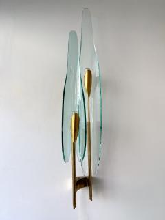 Max Ingrand Pair of Dahlia Sconces by Max Ingrand for Fontana Arte Italy 1950s - 2073915