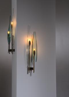 Max Ingrand Pair of Max Ingrand for Fontana Arte wall lamps - 2013189