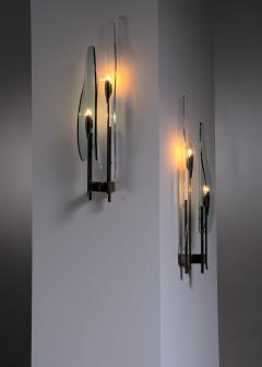 Max Ingrand Pair of Max Ingrand for Fontana Arte wall lamps - 2013192