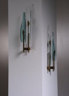 Max Ingrand Pair of Max Ingrand for Fontana Arte wall lamps - 2013193