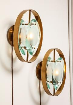 Max Ingrand Pair of Wall Sconces 2240 by Max Ingrand for Fontana Arte - 1618713