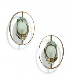 Max Ingrand Pair of Wall Sconces 2240 by Max Ingrand for Fontana Arte - 1618715