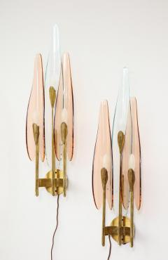 Max Ingrand Rare 3 Light Dahlia Sconces by Max Ingrand for Fontana Arte - 1928655