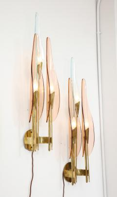 Max Ingrand Rare 3 Light Dahlia Sconces by Max Ingrand for Fontana Arte - 1928659