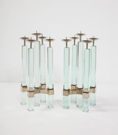 Max Ingrand Rare Pr of Candlesticks 2422 by Max Ingrand for Fontana Arte - 2095974