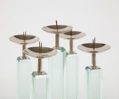 Max Ingrand Rare Pr of Candlesticks 2422 by Max Ingrand for Fontana Arte - 2095977